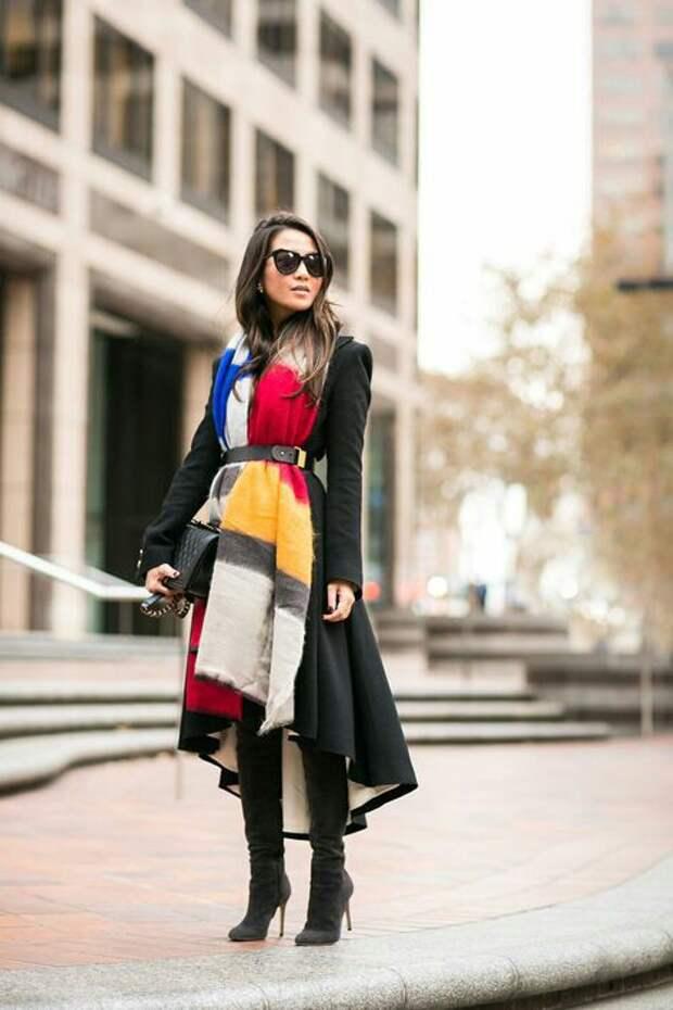 Осенние уютные шарфы (подборка)
