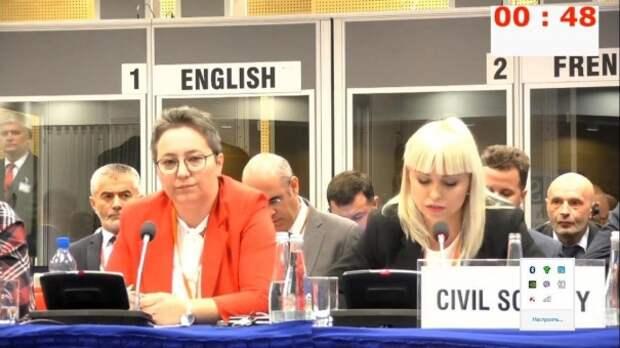 Выступление «Белорусов Крыма» на ОБСЕ