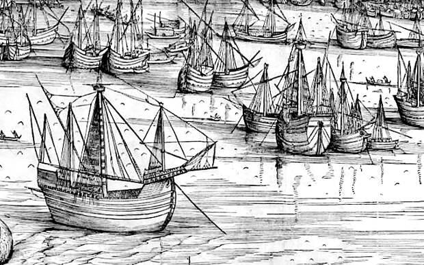 Нефы в гавани Венеции на картине 1500 года - Война Священной лиги в 1539 году: большие надежды | Warspot.ru