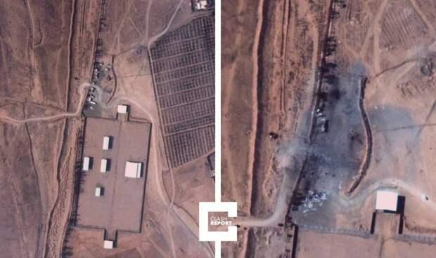 Опубликовано фото последствий удара США по Сирии