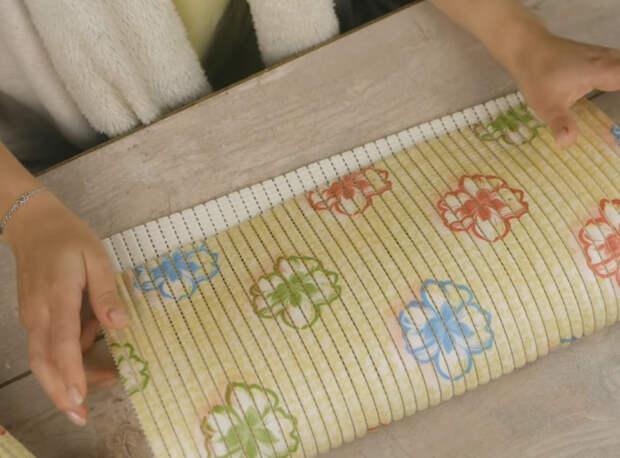 Очень красивая переделка: так необычно резиновый коврик вы еще не использовали