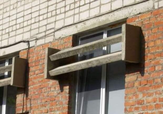 Для чего устанавливали бетонные «козырьки» в советских многоэтажках
