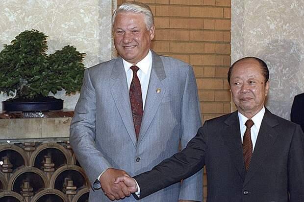 Ельцин и  премьер-министр К.Миядзава . Он так надеялся получить острова в 1992 году.