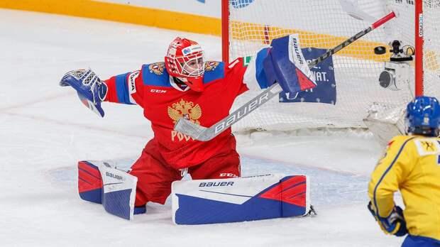 18-летний русский вратарь остановил взрослую сборную Швеции. У Аскарова 29 спасений и победа на буллитах