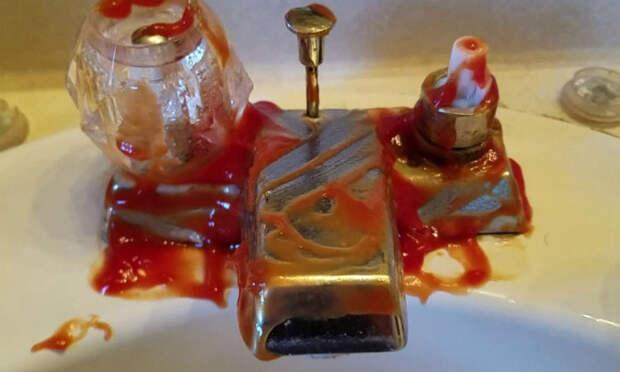 Как очистить раковину кетчупом