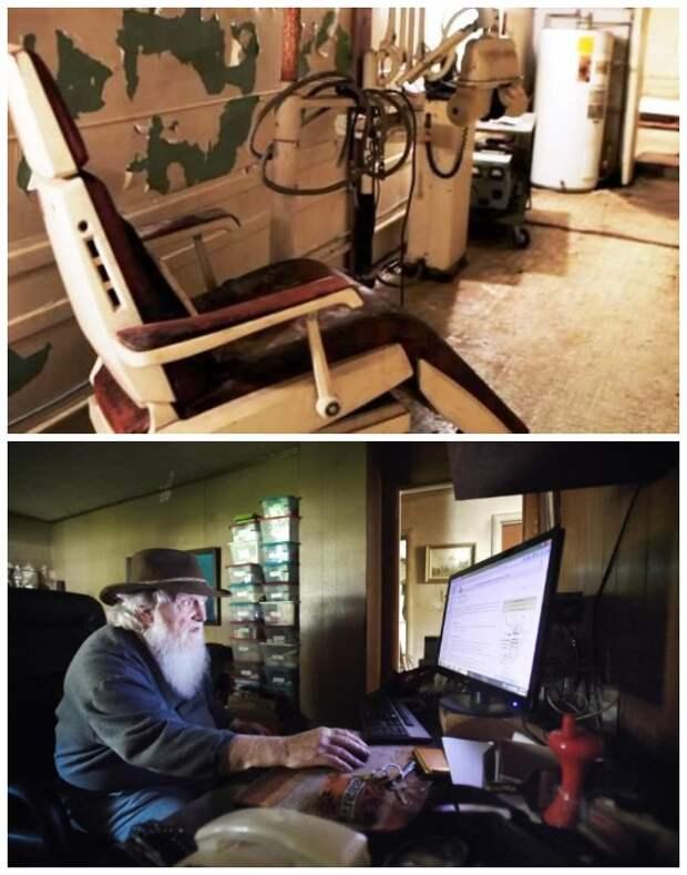 В бомбоубежище есть медицинский кабинет и даже интернет, и современные компьютеры.