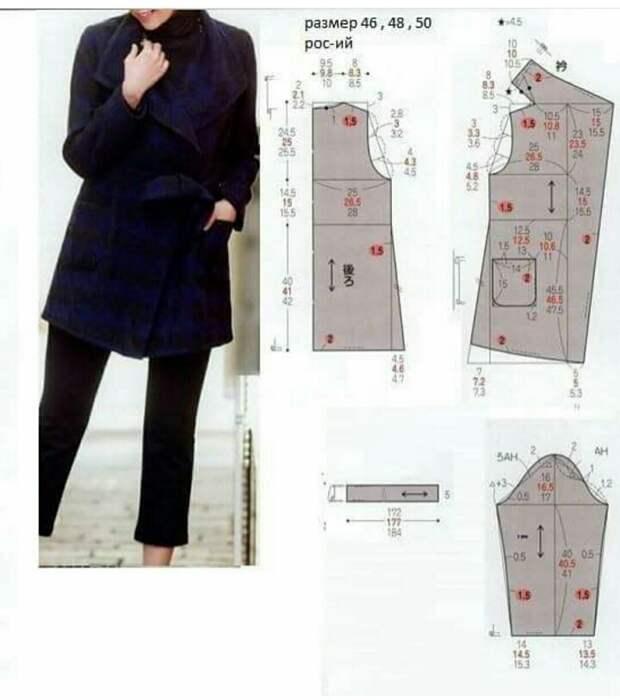 Выкройка пальто (Япония)