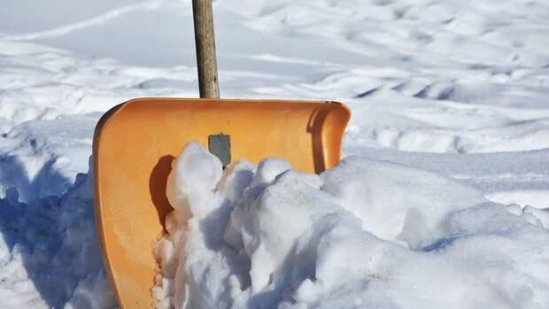 Во дворе дома на Волгоградке убрали снег — Жилищник