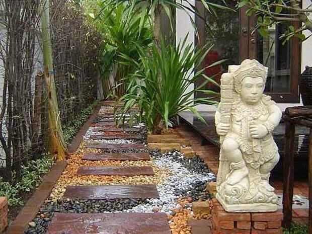 садовые дорожки в восточном стиле