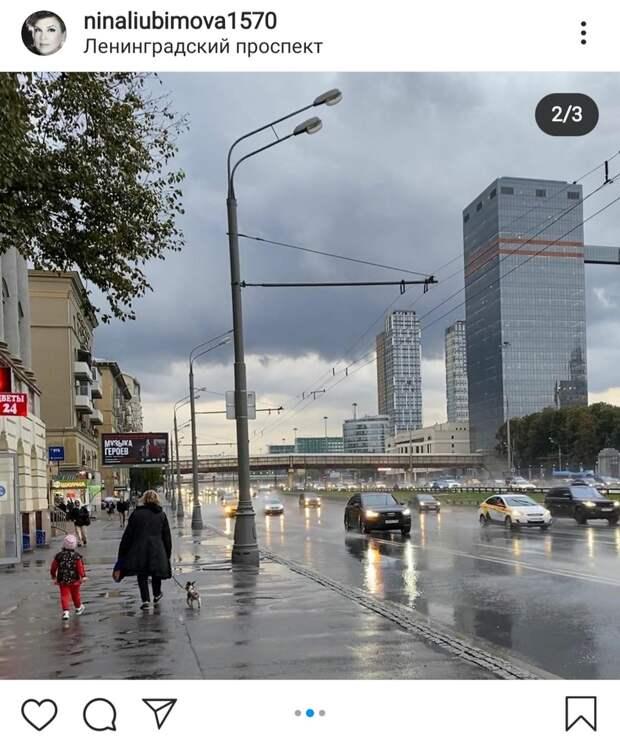Фото дня: Ленинградский проспект после дождя