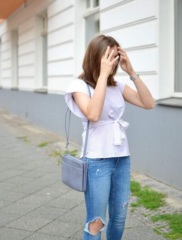 Блузка из мужской рубашки DIY