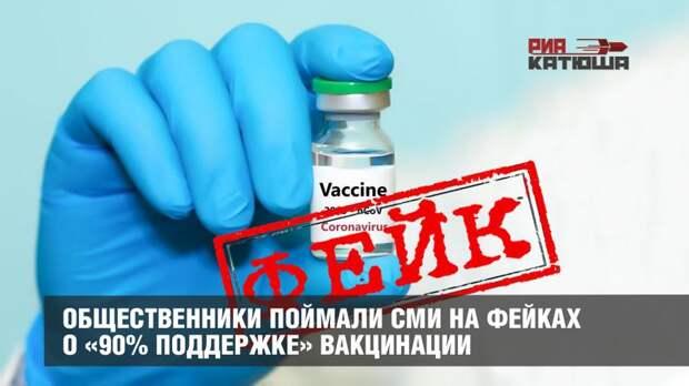 Общественники поймали СМИ на фейках о «90% поддержке» вакцинации