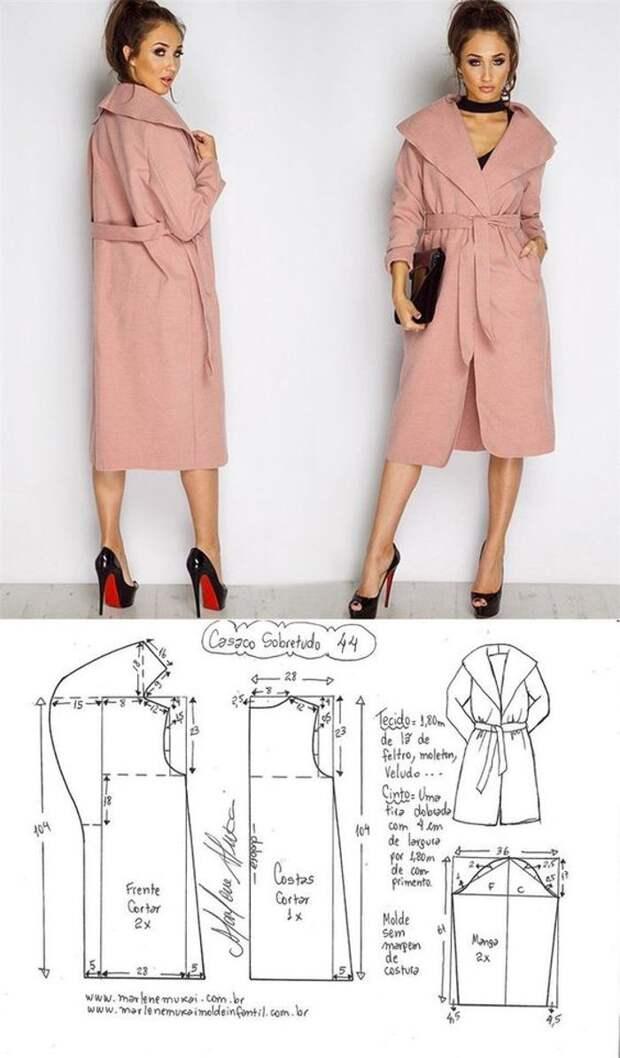 Стильные пальто с выкройками
