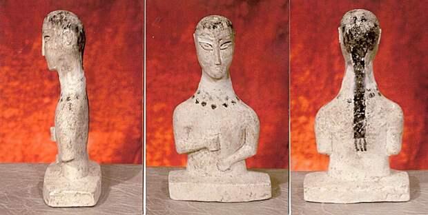 Скульптурные изображения человека Дмитриевского могильника салтово-маяцкой культуры
