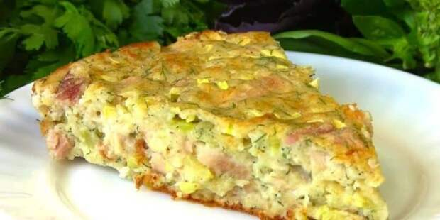 Заливной пирог с курицей и кабачками: просто, быстро и очень вкусно