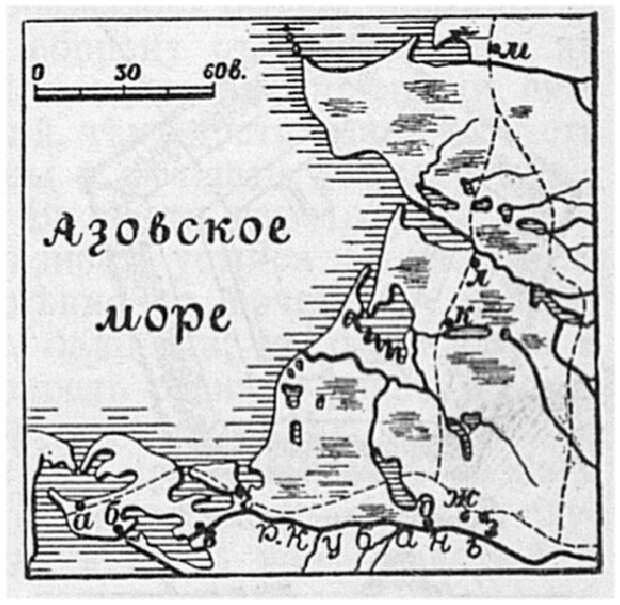 Берег Азовского моря возле Тамани