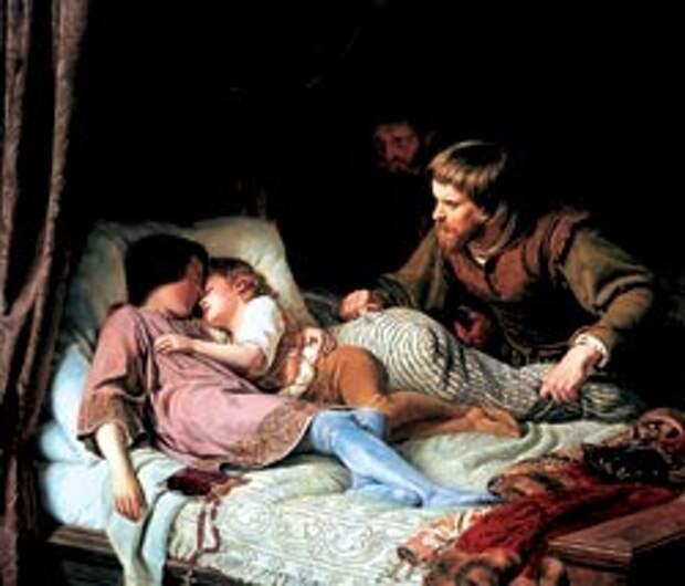 Ф.Т. Хильдебрандт. Убийство сыновей Эдуарда IV. 1835—1837 годы