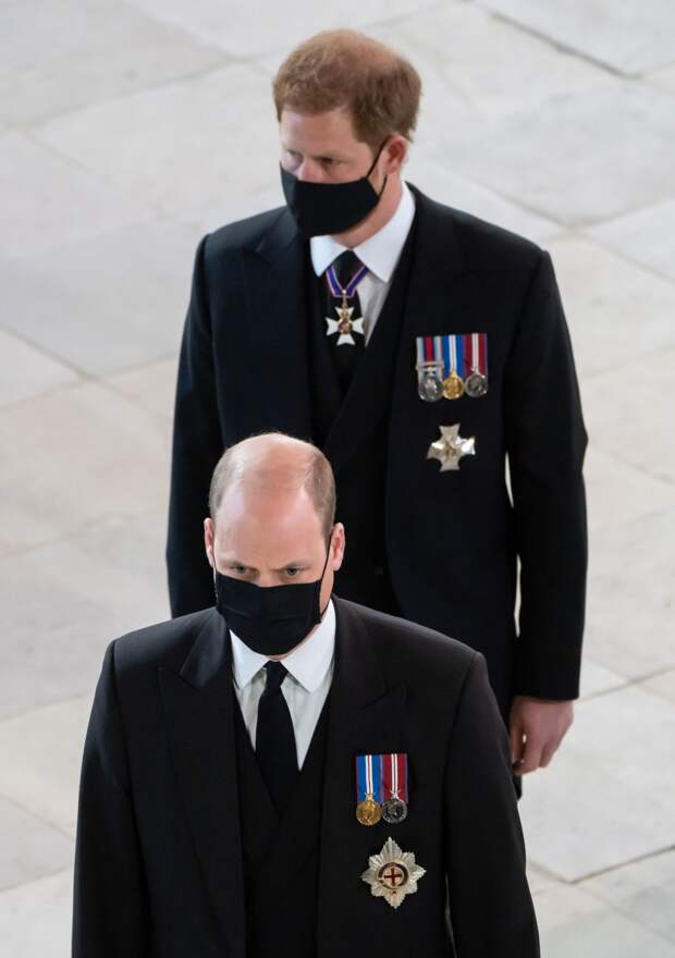 Принц Уильям и принц Гарри 2021