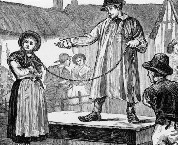 Как англичане продавали жен на рынке, сколько за них просили и зачем это делали
