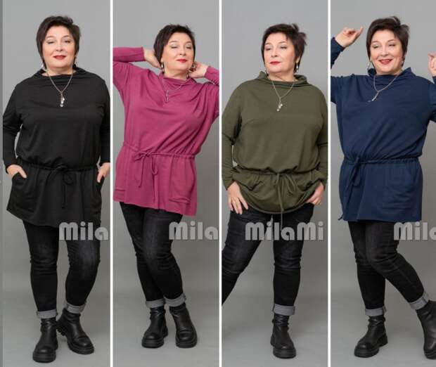 """Фото 5 - туники разного цвета торгового бренда """"MilaMi""""."""