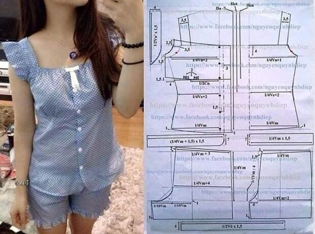 Подборка выкроек одежды для сна