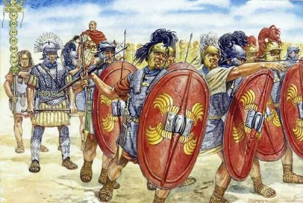 Переход Цезаря через Рубикон.