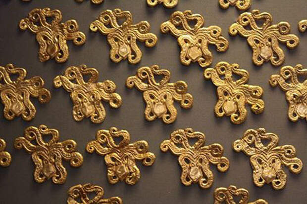 золотые-Микенские осьминоги, украсить одежду.