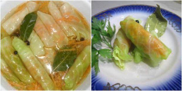 Рецепт вкусных и хрустящих капустных рулетиков, которые съедаются сразу же