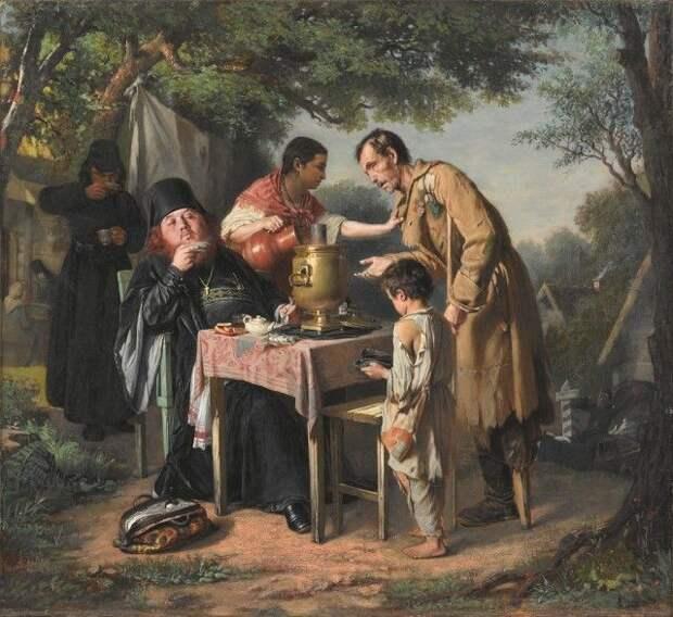 Жизнь людей в XIX веке на картинах Василия Перова (23 картины)