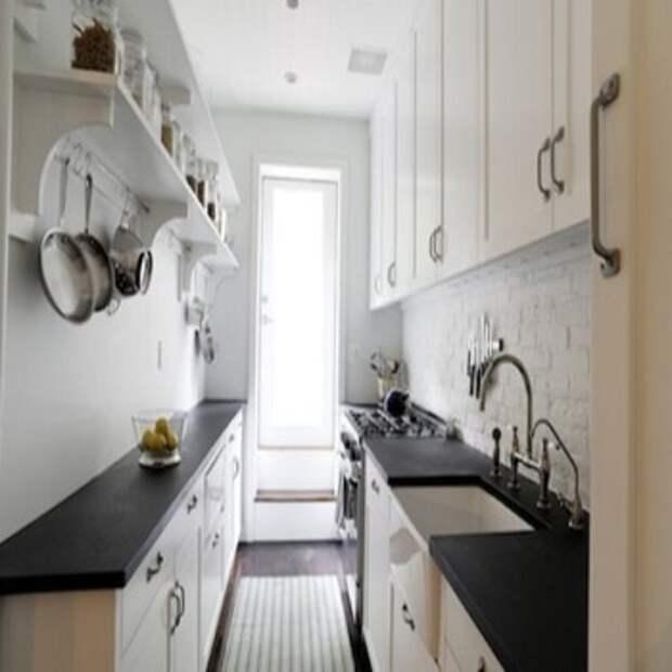 двухлинейная белая кухня