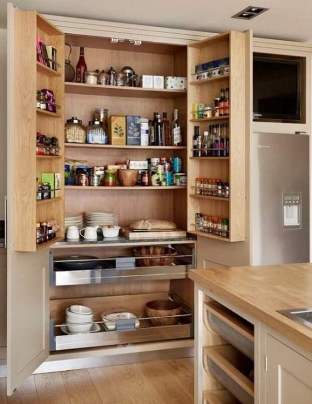Удобное хранение продуктов на кухне: фото идеи 06