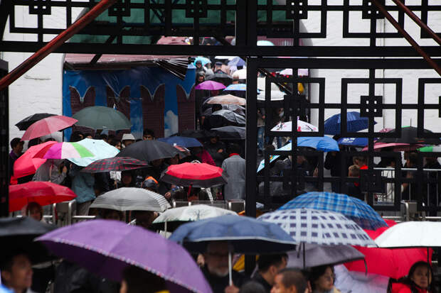 Рекордный дождь начался в Москве
