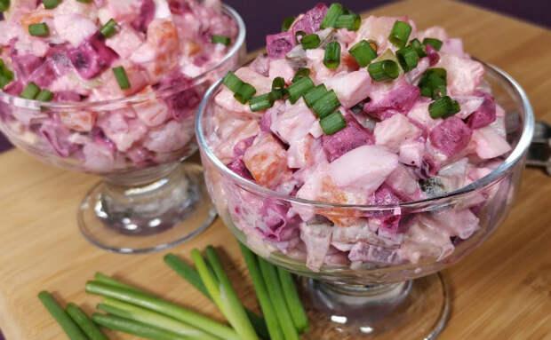 Наполовину винегрет, наполовину Шуба. Финский салат Росоли из селедки и свеклы