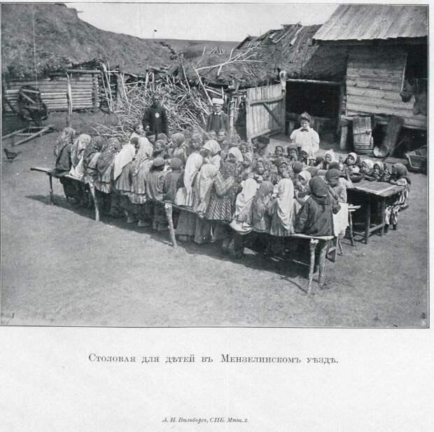По голодавшим губерниям.