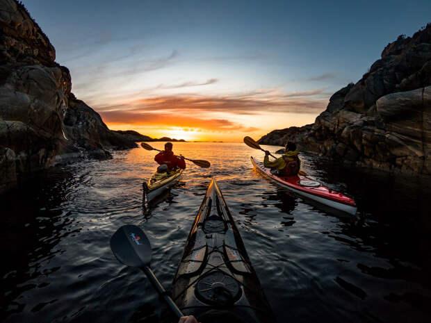 Путешествие на каяке по фьордам и озерам Норвегии