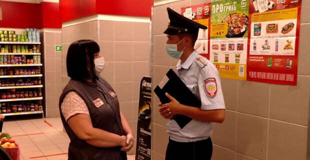 Рейд по проверке соблюдения масочного режима провели в магазинах Тамбова