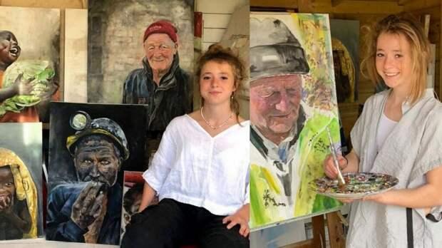 14-летняя девочка начала рисовать год назад в пыльном сарае, а теперь на ее работы существует очередь
