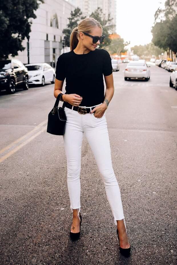 Джинсы и футболка: фото стильных идей и модных тенденций
