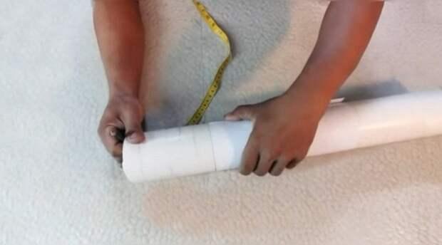 Интересный способ использовать обрезки ПВХ труб