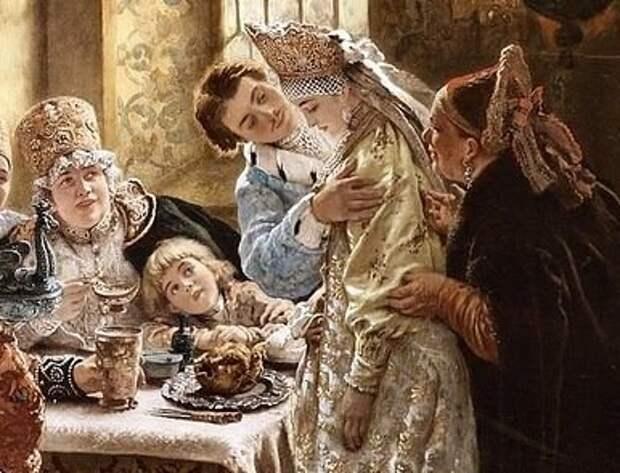 Боярский свадебный пир в XVII веке. фрагмент