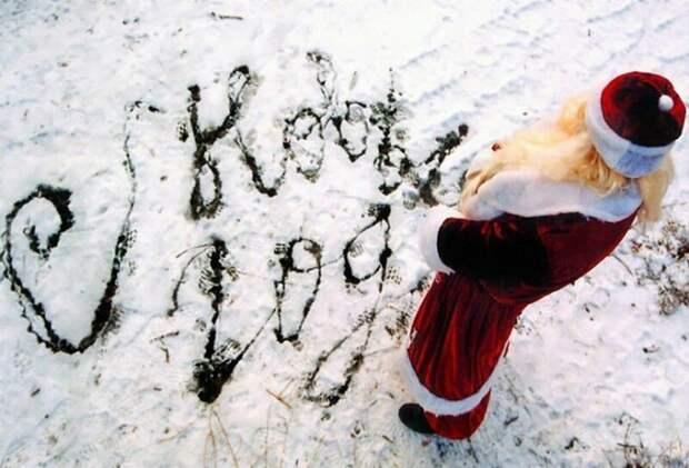 Новогодние приколы в картинках дед мороз, зима, новый год, приколы, снег, фото