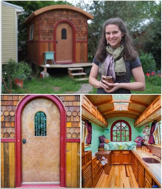 Лина Менар спроектировала и построила свой первый крошечный дом The Lucky Penny в 2014 году (Портленд, США). | Фото: nichedesignbuild.com/ boredpanda.com.