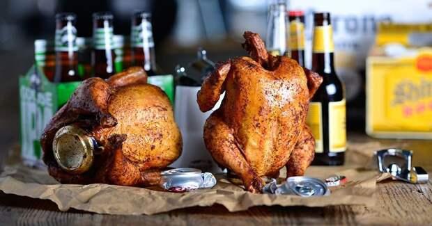 Курица набутылке— пошаговый рецепт