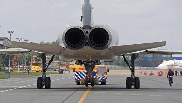Выкатка для наземных и летных испытаний модернизированного бомбардировщика Ту-22М3М на Казанском авиационном заводе имени С.П. Горбунова