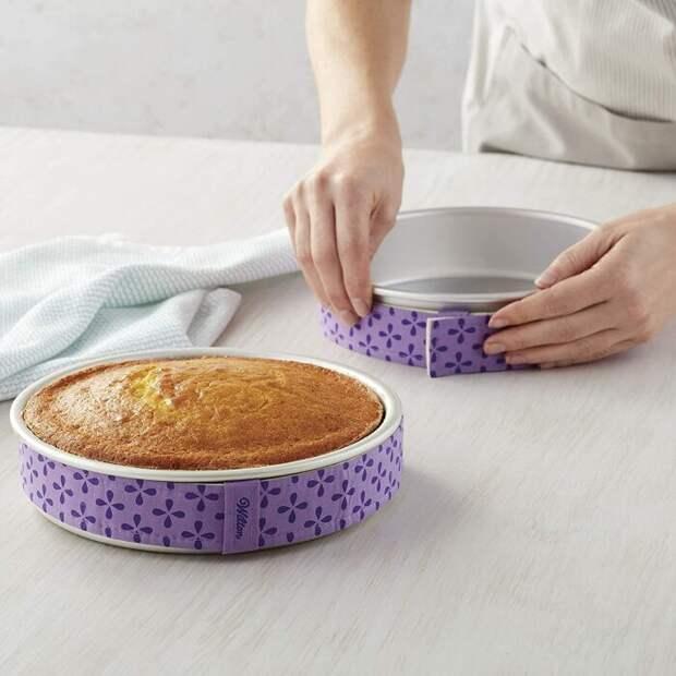 Влажные полоски ткани помогут тесту равномерно подняться. /Фото: images-na.ssl-images-amazon.com
