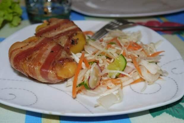 Аппетитная картошечка в беконе с грибами и сыром — ароматная и сытная