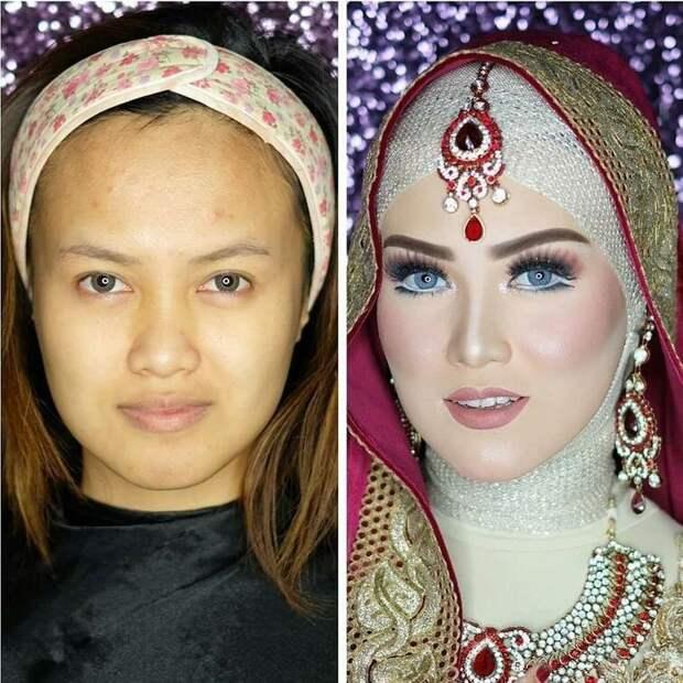 Макияж — тоже обязательный атрибут праздника. Для невест нанимают визажиста, который с особой тщательностью наносит макияж на лицо невесты боевой раскрас, красота, люди, макияж, невеста, фото