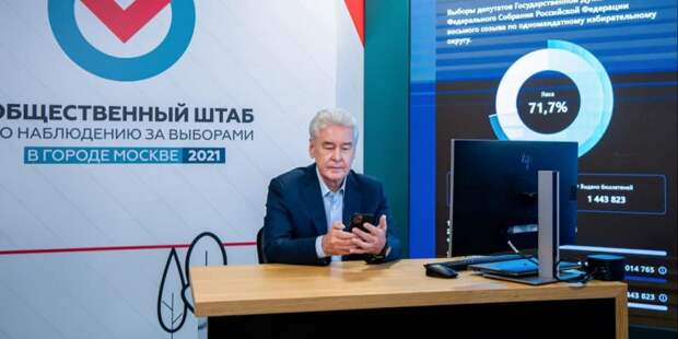 Сергей Собянин проголосовал онлайн на выборах депутатов в Госдуму