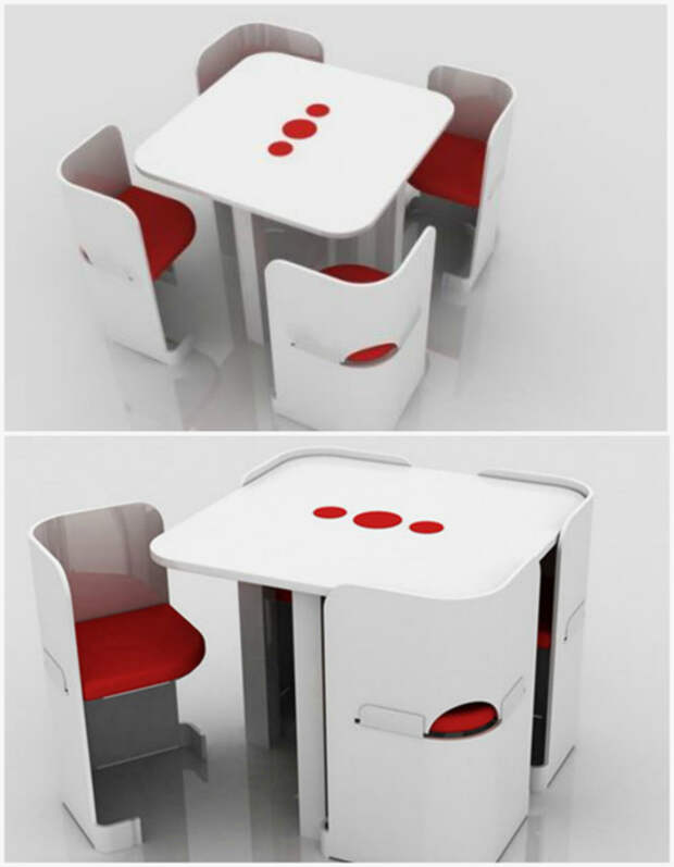 Столик со стульями.