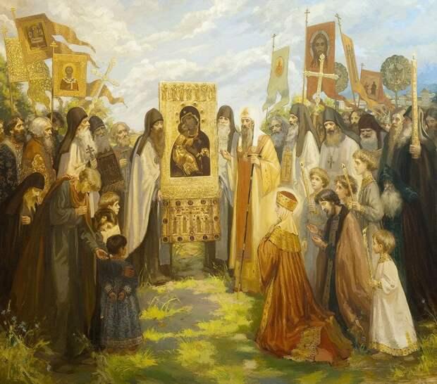 Сретение икона Владимирской Богоматери